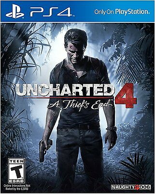 Uncharted 4 PS4 A Thiefs End - Sony PlayStation 4 BRAND NEW SEALED