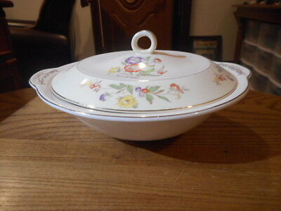 Paden City Pottery Round Covered Vegetable Buttercup Pattern