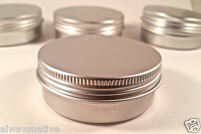 2 OZ- BLANK EMPTY SCREW TOP RUST PROOF METAL TIN CONTAINER CRAFT 16 pcscount