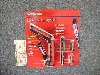 SNAP-ON 2pc PORTABLE LED LIGHT SET - NEW IN BOX