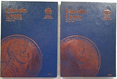Whitman Lincoln Cent 1 - 2 1909-1974 Coin Folders Albums Books