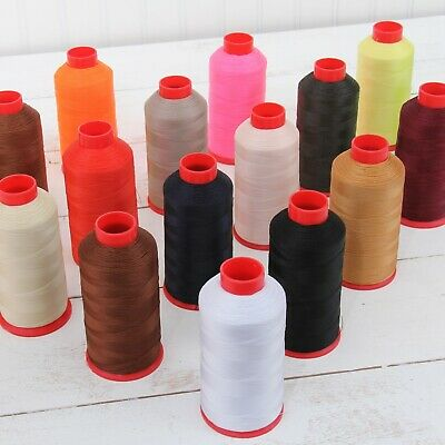BONDED NYLON THREAD 69 UPHOLSTERY CANVAS LEATHER 1650YD CONES TEX70 26 COLORS