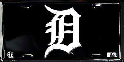 DETROIT TIGERS CAR TRUCK TAG LICENSE PLATE BLACK W WHITE D EMBOSSED METAL SIGN