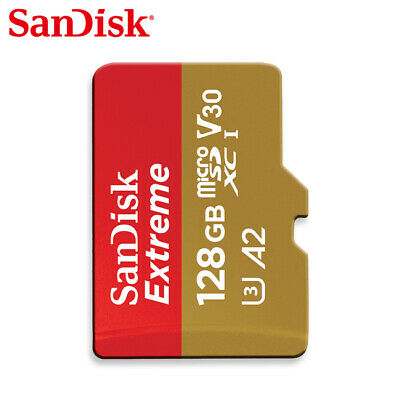Sandisk 128GB Extreme A2 V30 micro SDXC Card up to 160MBs UHS-I U3 for GoPro
