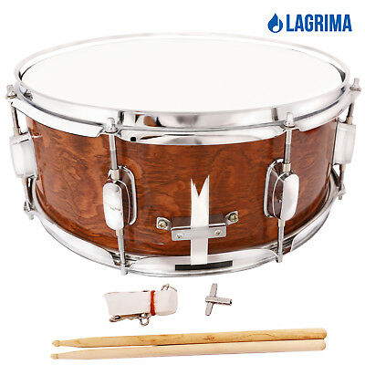 Marching Snare Drum Dark Wood Shell Percussion Poplar 14x5-5 Inch