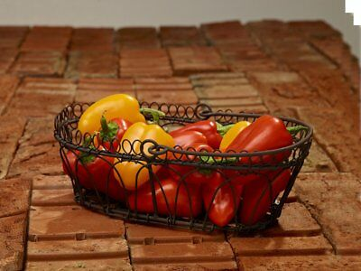 Rustic Cottage 8 Wire Basket with Handle