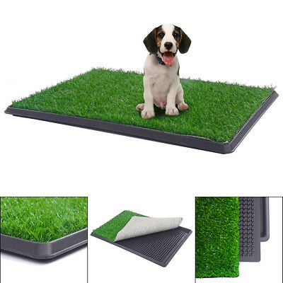 30x20 Puppy Pet Potty Training Pee Indoor Toilet Dog Grass Pad Mat Turf Patch