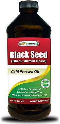 Best Naturals Black Seed Oil liquid 8 OZ  - black cumin oil - expires in 2020