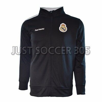 Real Madrid Jacket Zip Up Adult Sizes Soccer New Season Black White