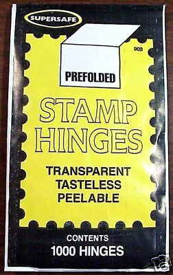 SuperSafe  Supersafe  Stamp Hinges  Lowest Price  Fast Service Packed Well