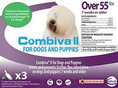 Combiva II Flea Treatment for Dogs Over 55lbs 3 Doses