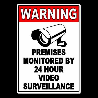 Property Protected By Video Surveillance Warning Security Camera Metal Sign MS09
