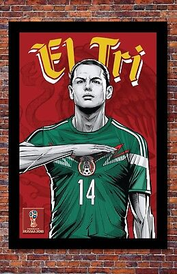 2018 World Cup Soccer Russia  TEAM MEXICO Poster  13 x 19 Inches
