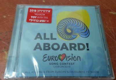 Eurovision 2018 - ESC Lisbon RARE 2CD Hebrew Sticker CD Made in Israel Netta Toy