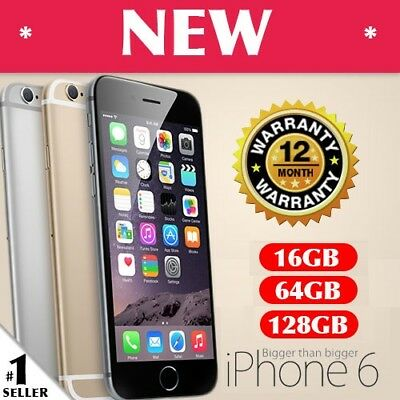 NEW Apple iPhone 6 16GB 64GB 128GB UNLOCKED 4G MOBILE PHONE GREY GOLD SILVER
