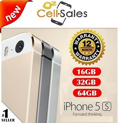 NEW Apple iPhone 5s 16GB 32GB 64GB Smartphone Space Grey Silver Gold 4G Unlocked