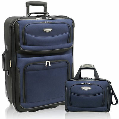 Travelers Choice Amsterdam 2-Piece Carry-On Luggage Set