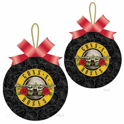 Guns N Roses Collectible GNR Roses - Pistols Bullet Logo Christmas Ornament