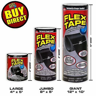 Flex Tape Super Strong WaterProof Tape - Rubberized Sealant Black BUY DIRECT
