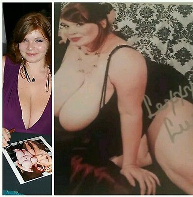 ADULT STAR BBW LEXXXI LUXE signed 8X10 wCOA HUGE BREASTS 4