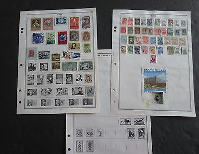 Russia 130 Stamps on 3 Double Sided Harris Pages Used C280