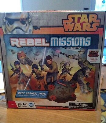 Star Wars Rebel Missions Game Disney Sealed Box Ages 6- 2-5 Players