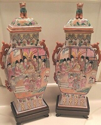 Antique Fine Quality Chinese  Vases with 18th C Qianlong Period Marks
