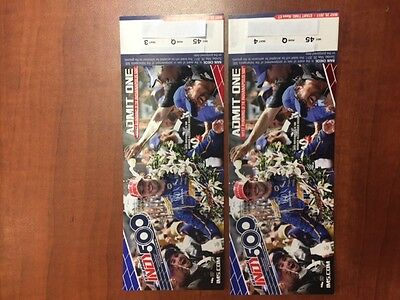 Two 2 Tickets To The Indianapolis Indy 500 May 28 2017