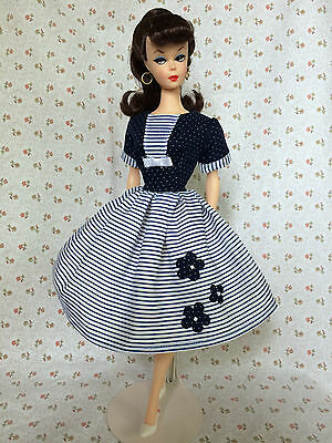 Handmade Dress For Vintage - Repro Vintage Barbie By GINA NAUTICAL NAVY