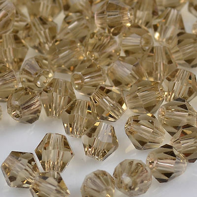 100pcs Gray exquisite Glass Crystal 4mm 5301 Bicone Beads loose beads 5