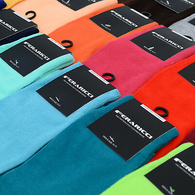 Mens Bold Colorful Solid Dress or Casual Socks 10 - 13 New