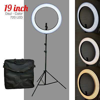 LED 19 Ring Light 5500K Dimmable-Universal Adapter wUS Plug Makeup Youtube