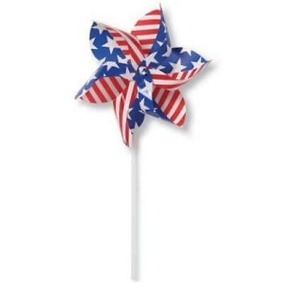 Patriotic Red White and Blue 4th of July Pinwheel