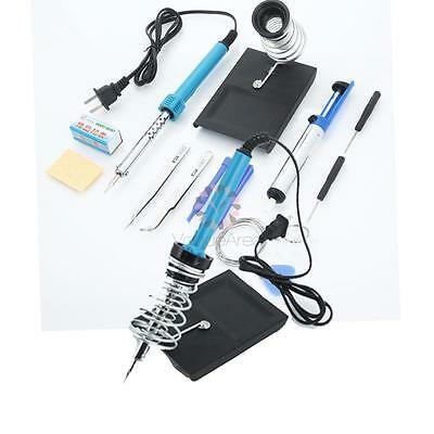 14in1 110V 40W Electric Hot Rework Solder Iron Tool Kit with Desoldering Pump