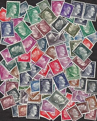 Germany - Packet of 100  Mint Hitler Head  Stamps - B6816