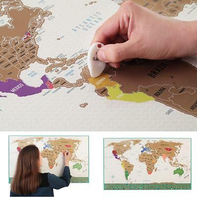 World Travel Tracker Map Scratch Off World Map Country Flags US States Large