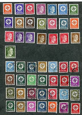 STAMP LOT OF GERMANY MNH MH AND USED 2 SCANS