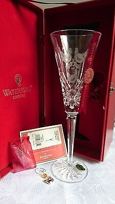 Waterford crystal 12 days of christmas 3 French Hens glass wine flute