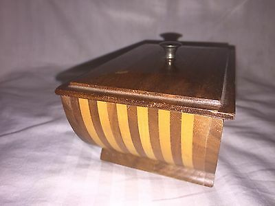 Vintage Antique Jewelry Trinket Wood Wooden Inlaid Inlay Hand Made Box
