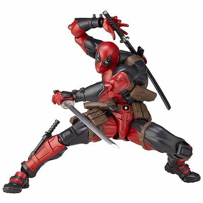 US Revoltech Series Deadpool PVC Action Figure Toys Collection Doll Model Gifts