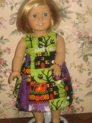 Handmade Halloween Patchwork Dress - American Girl Doll Clothes - 18 Inch