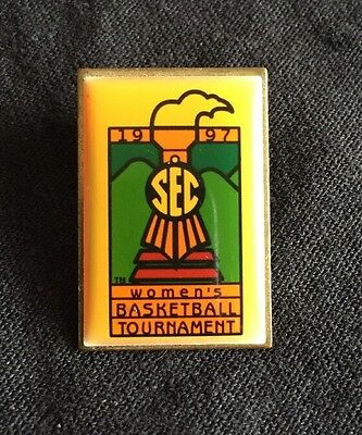 1997 Womens Basketball Tournament SEC Lapel Pin VTG College Sports SouthEastern