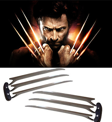 A pair X-Men Wolverine Movie Logan Blade Claw Paw Cosplay Prop Men ABS Plastic