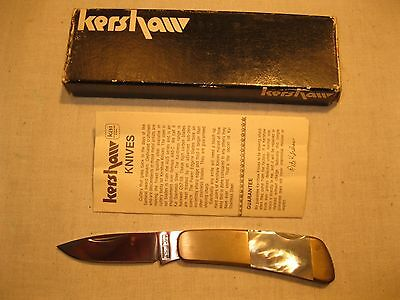 Vintage Kershaw KaiCutlery Japan 5300 Mother of Pearl Knife w Box Papers- New