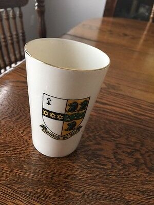Frinton on Sea Small WH Goss Cup with Gold Trim
