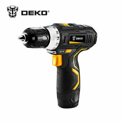 DEKO 38 12V Lithium-Ion Battery  2-Speed Cordless Electric Drill  Power Tools