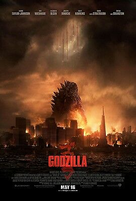 GODZILLA 2014 - Final - Original movie theater poster 27x40 DS