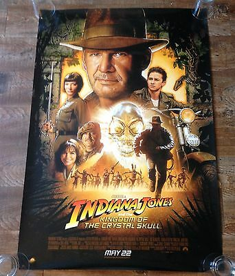 INDIANA JONES KINGDOM OF THE CRYSTAL SKULL - Original movie theater poster 27x40