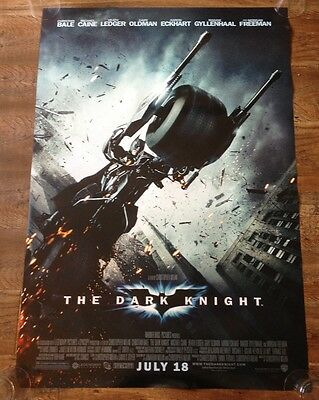 THE DARK KNIGHT - BATPOD STYLE - Original movie theater poster 27x40 DS