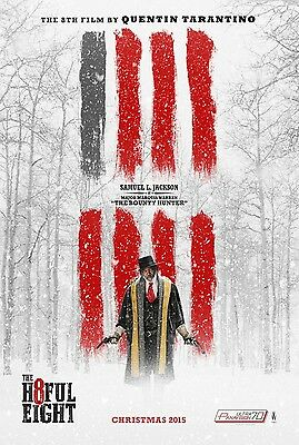 The Hateful Eight - Tarantino - Jackson - Original movie theater poster 27x40 DS